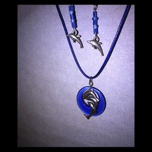 Jewelry - Dolphin necklace & earring set